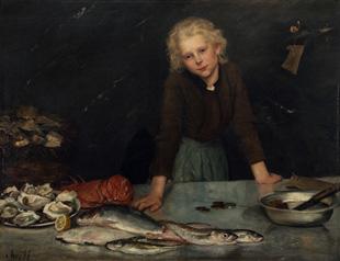 Fischverkäuferin von Aline von Kapff