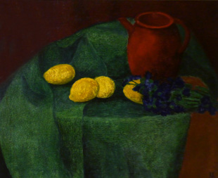 Stillleben mit Zitronen von Karl Emil Uphoff