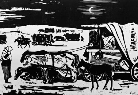 Flüchtlingstreck von Eduard Bischoff