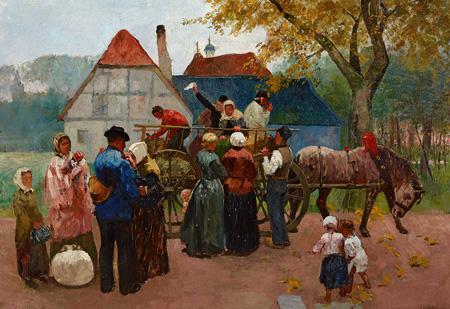 Ausstellung - Auswanderer von Christian Ludwig Bokelmann