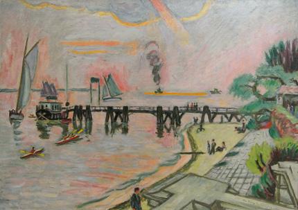 Teufelsbrück (Hamburg) von Ivo Hauptmann (1886 - 1973)