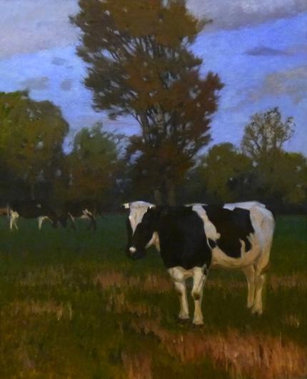 Kunstmuseum, Kunst-Café, Vieh auf der Weide von Carl Vinnen