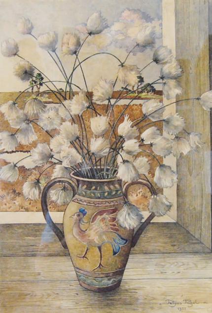 Vase mit Wollgras von Tetjus Tügel
