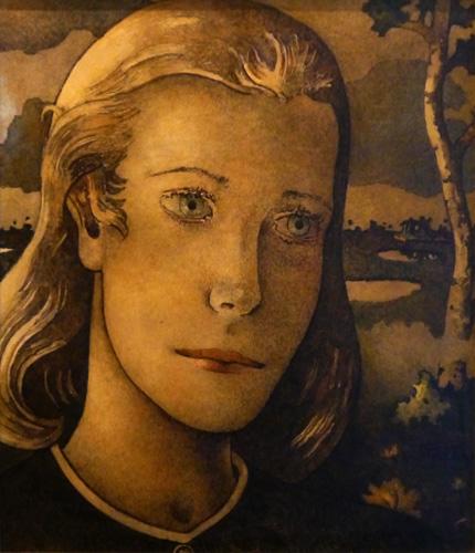 Kunstmuseum, Kunst-Café, Mädchen mit den zwei Herzen von Tetjus Tügel