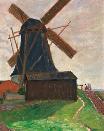 Die Worpsweder Mühle von Fritz Mackensen