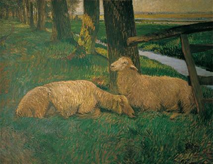 Ruhende Schafe von Fritz Mackensen