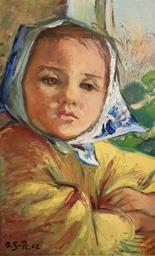Mädchen mit Kopftuch - Agnes Sander Plump