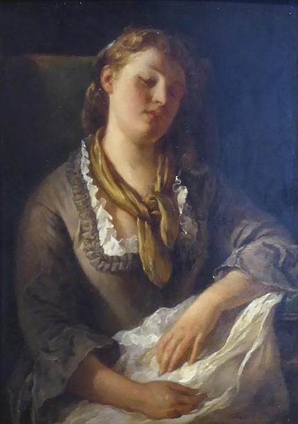aktuelle Ausstellung - Schlafende Näherin von Johann Friedrich Hoff