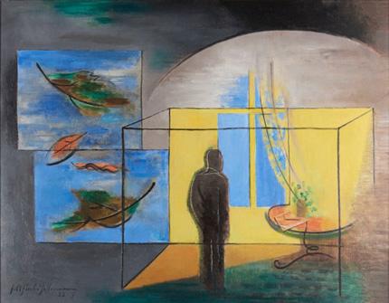 Friedrich Ahlers-Hestermann, Einsamkeit / Drinnen und Draußen