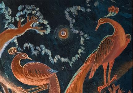Ausschnitt Feuervögel von Lijonka